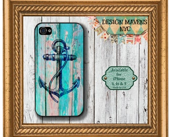 Anchor iPhone Case, Nautical iPhone Case, Plastic iPhone Case, iPhone 4, 4s, iPhone 5, 5s, iPhone 5c, iPhone 6, Phone Cover, Phone Case