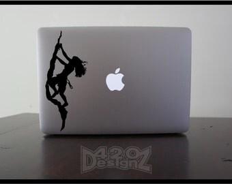 Rock Climbing    - Macbook Air, Macbook Pro,  Macbook decals, sticker Vinyl Mac decals Apple Mac Decal, Laptop, iPad