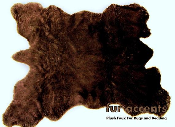 Plains Buffalo Hide Pelt Rug / Faux Fur Indian Bear by ...