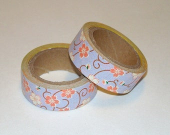 Washi Tape Roll Purple Cherry Blossom Sakura Japanese Style 15mm x 6m