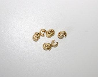 50Pcs goldf. Crimp cover 3, 2mm SZ062 NF