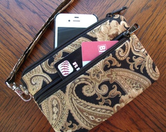 IPhone Wallet Wristlet.Cell Phone wallet wristlet. Errand runner. IPhone 6. IPhone 6s Plus