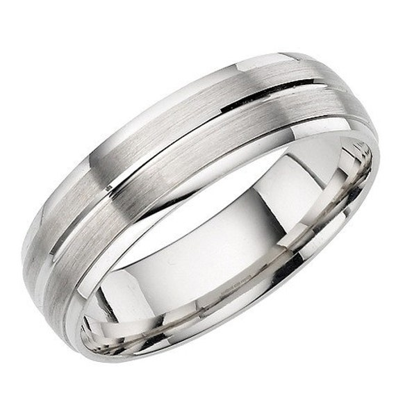 Mens Solid 950 Platinum Wedding Band Ring 6mm Wide Sizes 4