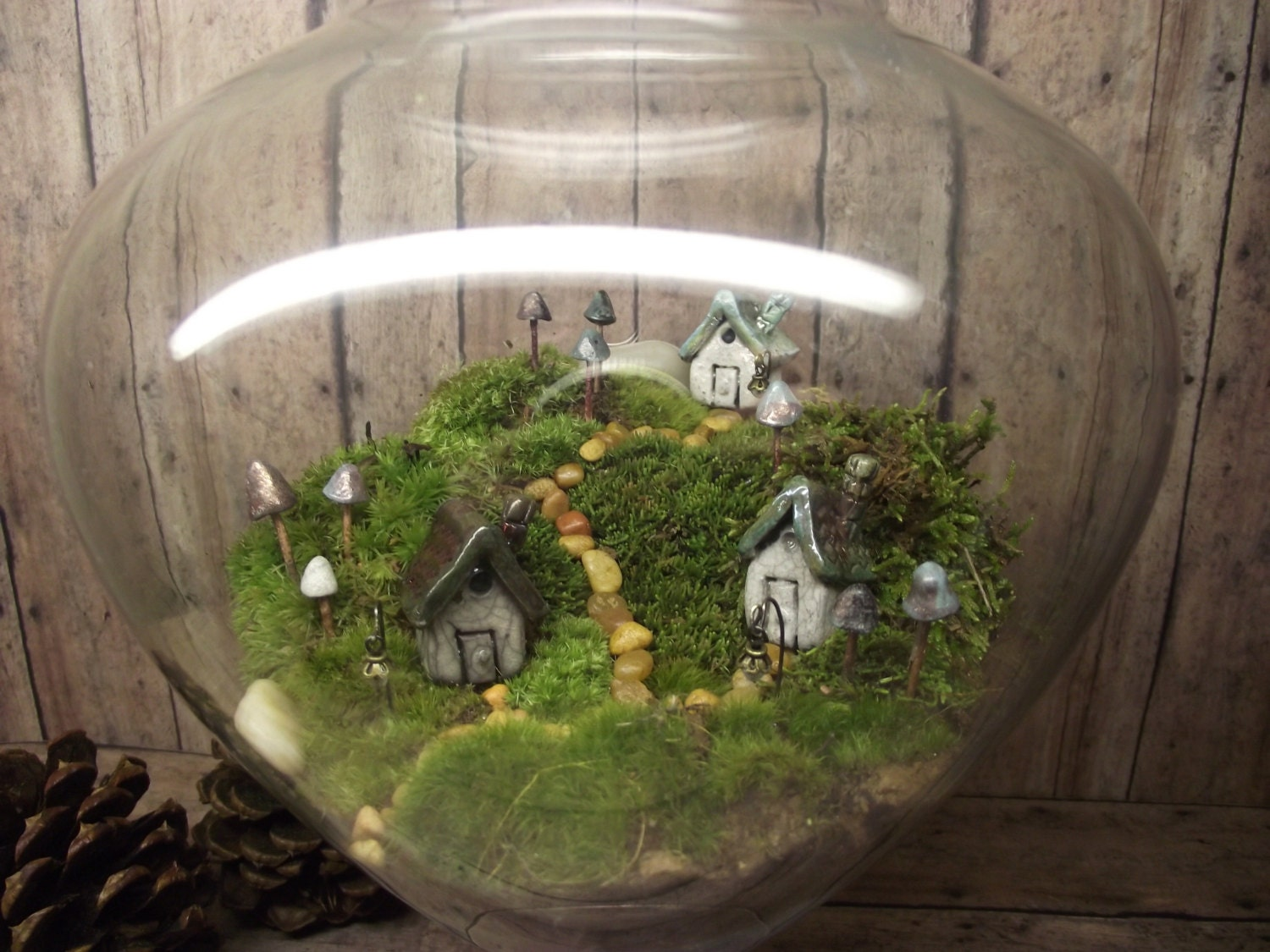 Beautiful miniature landscape large live moss by gypsyraku for Mini garden landscape