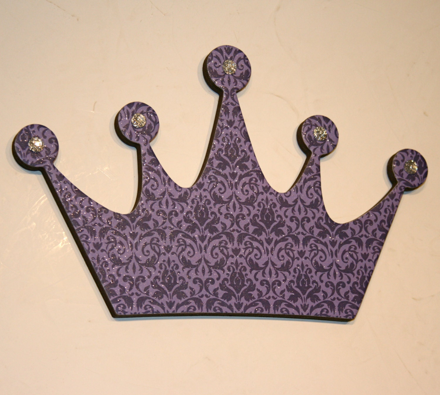Crown Decoration For Wall : Purple princess crown wall decor