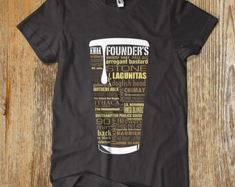BEST SELLER Craft Beer Typography t shirt. REDUCED Price. One of a kind