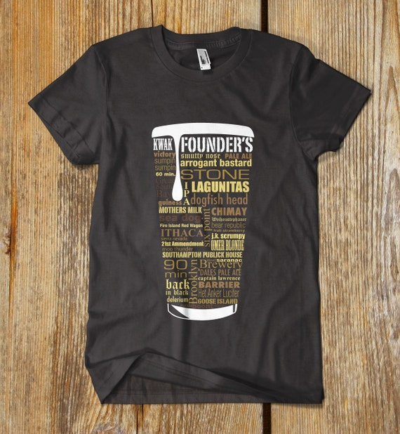 best seller craft beer typography t shirt reduced price one
