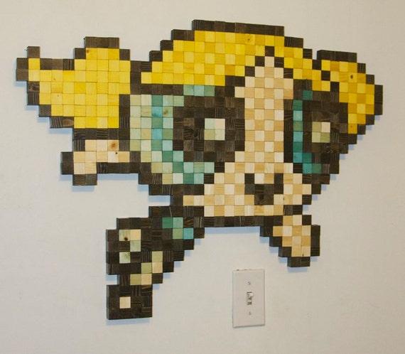 Powerpuff Girls Buttercup Wooden Pixel Wall Art by