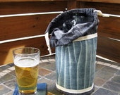 Denim Beer Growler Tote