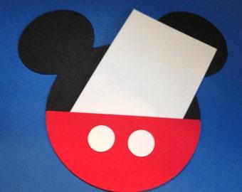 10 DIY Mickey Mouse Die Cut Invitations