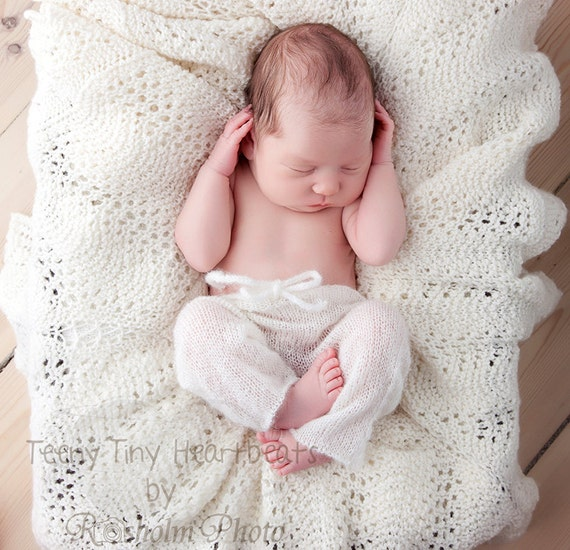 Knitting For Newborn Photography : Knit baby pants mohair newborn