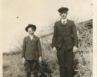 Vintage Photo Dad Boy