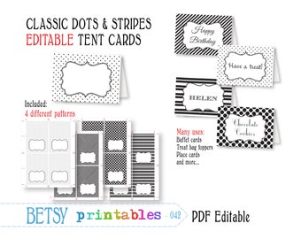 Editable buffet card, printable tent card, editable place cards, digital tent cards, buffet cards - INSTANT DOWNLOAD  042