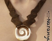 PIRATE MARMADE shell & seeds //// Tribal, ethnic, artwork, handmade, shell, macramé