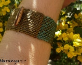 EARTHY BRACELET with Amazonian Seed //// Tribal, ethnic, artwork, handmade, handcraft, macramé