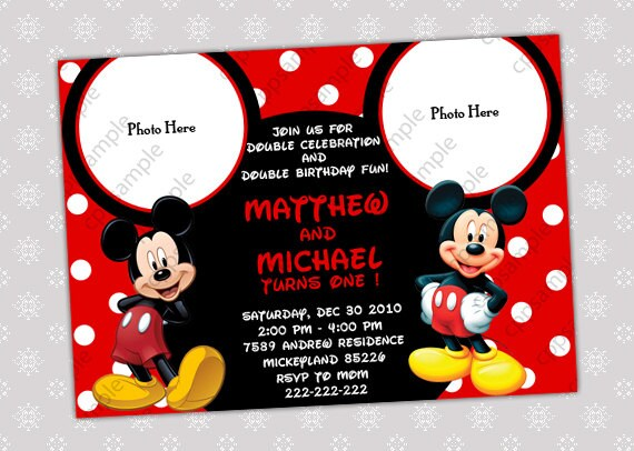 Mickey Mouse Invitation Cards was Fresh Style To Create Inspirational Invitations Layout