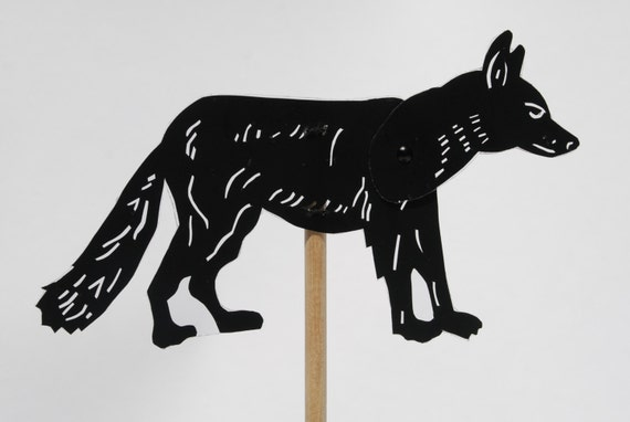 Elephant Hand Shadow Puppet Wolf Shadow Puppet Hand Cut