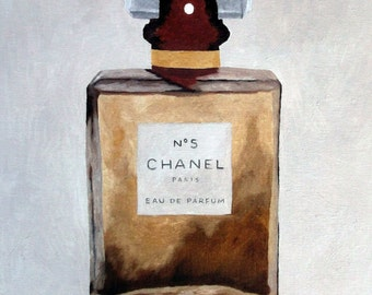 CHANEL No.5 Perfume Art Print, Fashion Gifts, Wall Art, Home Decor