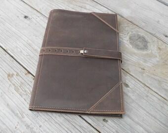 Leather Steno Padfolio Case