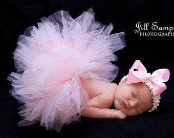 Baby Pink Tutu and Headband Set - Newborn Tutu, Infant Tutu and Headband, Baby Tutu, Newborn Photo Prop