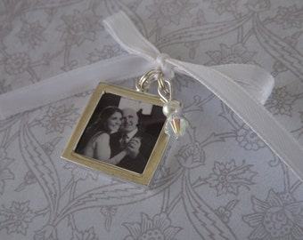 Wedding Bouquet Photo Charm -Double Sided- PICTURE PRINTING INCLUDED