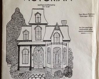 MONTREAL VICTORIAN WB-2 - Appli-Tique Pattern Works - Applique WallHanging 24 x 28 Unframed