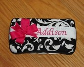Personalized Baby Wipe Case- 3 Designs to choose From.  Other fabric upon request.