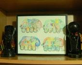 Four Funky Elephants: Pastels