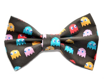 Pacman Ghost Bow Tie with Adjustable Strap