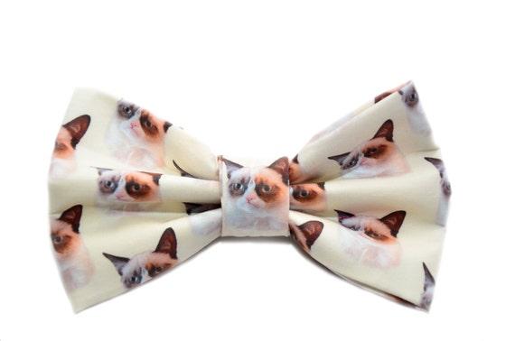 Grumpy Cat Bow Tie - with Adjustable Strap