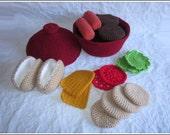 Crochet Pattern - BBQ Playset