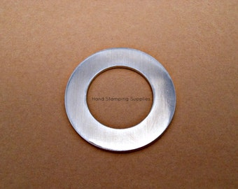 """Pre Tumbled 16G Aluminum 1 1/4"""" inch Washers with 3/4"""" Hole Stamping Blanks"""