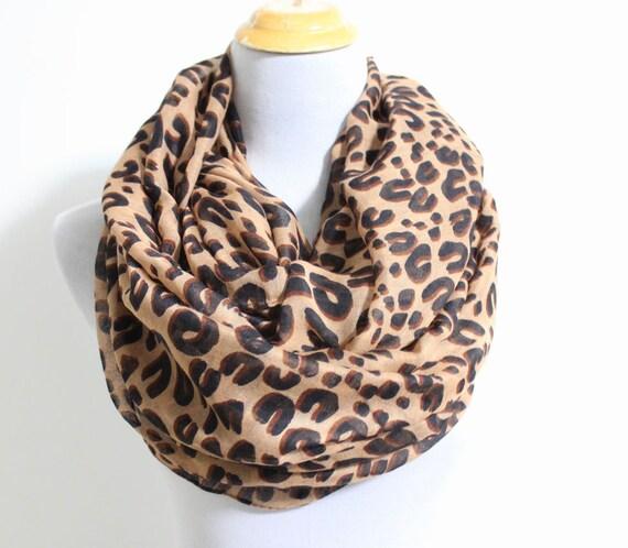 brown leopard infinity scarf fashion leopard scarf cheetah