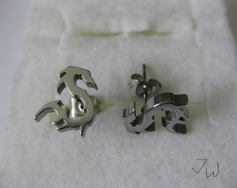 Dragon Stainless Steel Stud Earrings