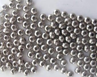 100  Nickel Beads 4mm