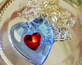 Beautiful Zelda Heart Piece Necklace // please read description