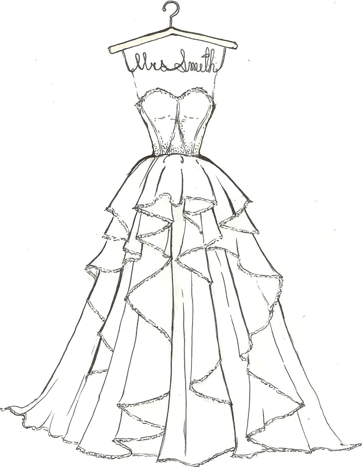 Unavailable listing on etsy for How to draw a wedding dress