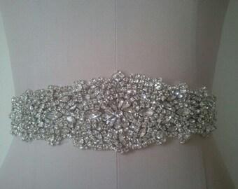 SALE  - Wedding Belt, Bridal Belt, Sash Belt, Crystal Rhinestone - Style B1999