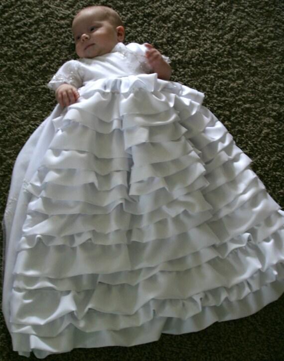 Items similar to Beautiful White Baby Baptism