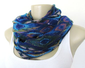 Blue and Purple Scarf