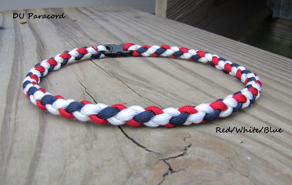 Items Similar To Hand Braided Paracord Sports Necklace Or