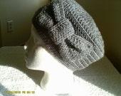 Heather Gray Bow Hat