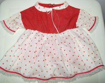 Red and White Clothes Pin Holder Dress