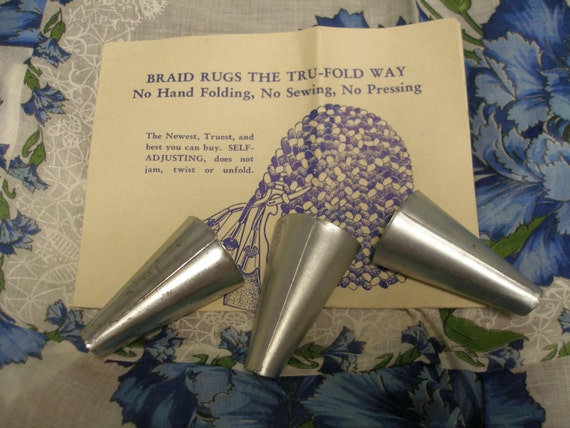 Tru Fold Rug Braiding Tools With Directions 3 Rug Braiders