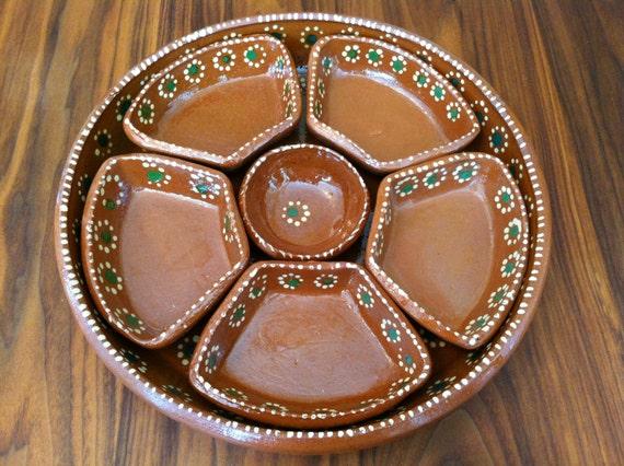 Vintage Tlaquepaque Mexican Pottery Tray By Cadencehomedecor