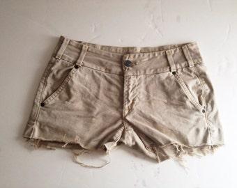 Women's khaki cutoff shorts