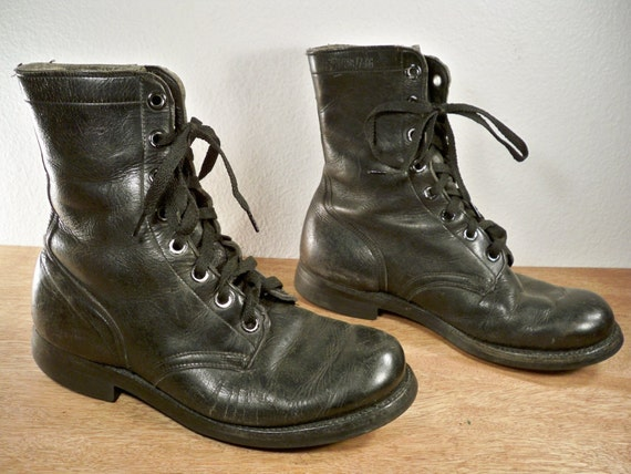 vintage cat s paw black leather combat nam by joeymest