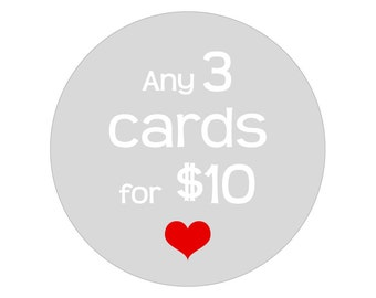 Choose any 3 cards for 10