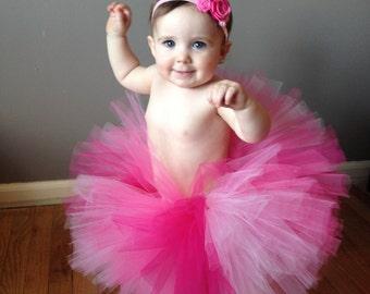 Pink ombre tutu - Baby Tutu - Girls Tutu - Birthday Tutu