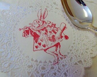 Alice In Wonderland Doilies Through The Looking Glass Baby Shower Tea Party Birthday Bridal Wedding Set Of 16
